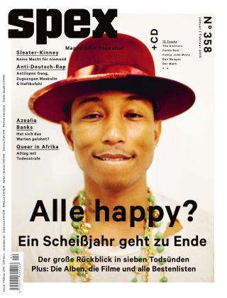 SPEX — Magazin für Popkultur - eingestellt Spex Nr. 358