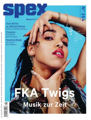 SPEX — Magazin für Popkultur - eingestellt Spex Nr. 354