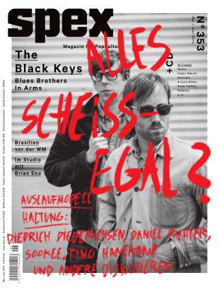 SPEX — Magazin für Popkultur - eingestellt Spex Nr. 353