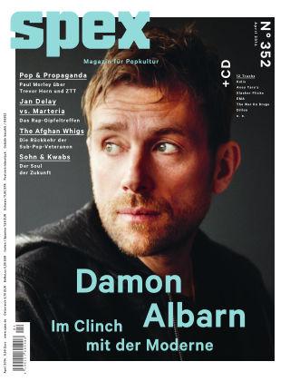 SPEX — Magazin für Popkultur - eingestellt Spex Nr. 352