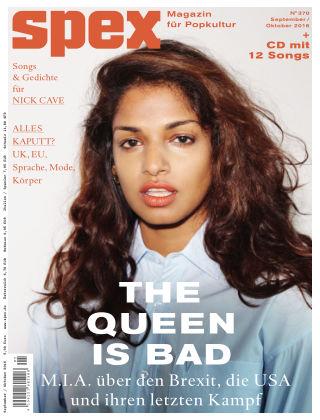 SPEX — Magazin für Popkultur - eingestellt SPEX Nr. 370