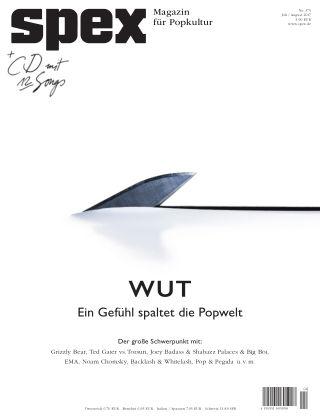 SPEX — Magazin für Popkultur - eingestellt SPEX No. 375