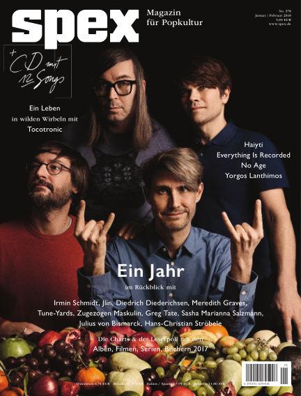 SPEX — Magazin für Popkultur (eingestellt) December 21, 2017 00:00