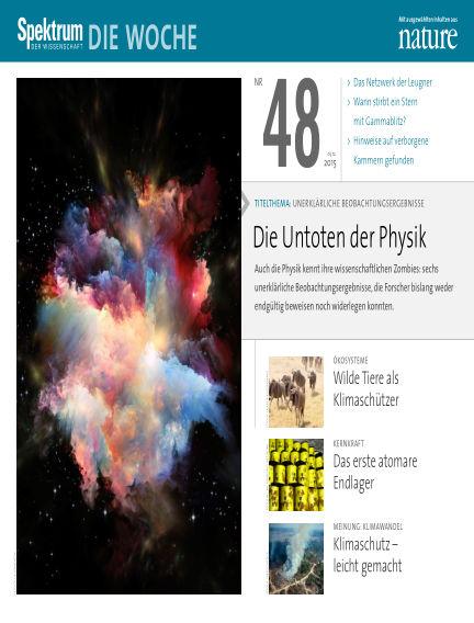 Spektrum - Die Woche December 03, 2015 00:00