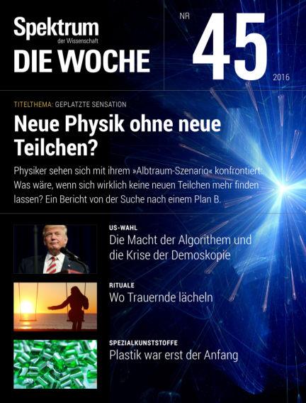 Spektrum - Die Woche November 10, 2016 00:00