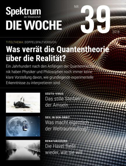 Spektrum - Die Woche September 27, 2018 00:00