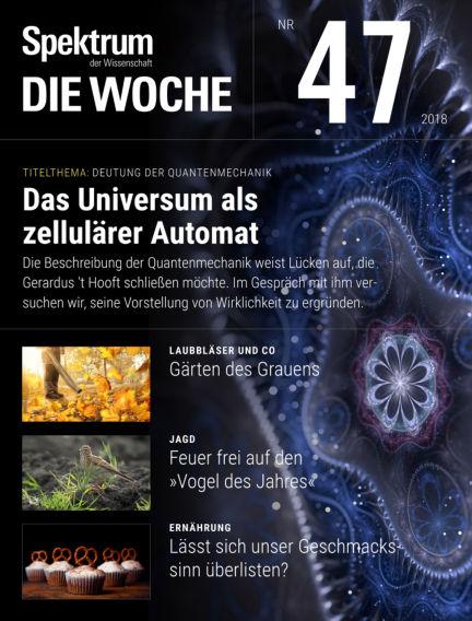 Spektrum - Die Woche November 22, 2018 00:00