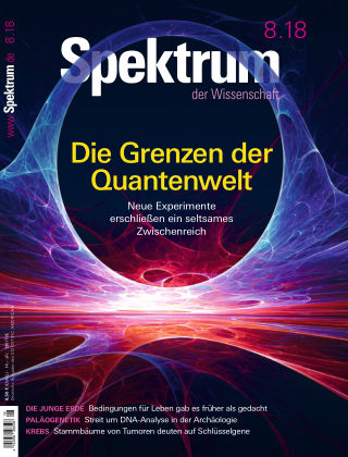 Spektrum der Wissenschaft 8 2018