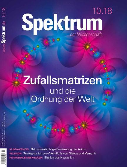 Spektrum der Wissenschaft September 22, 2018 00:00