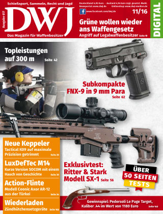 DWJ - Das Magazin für Waffenbesitzer 11/2016