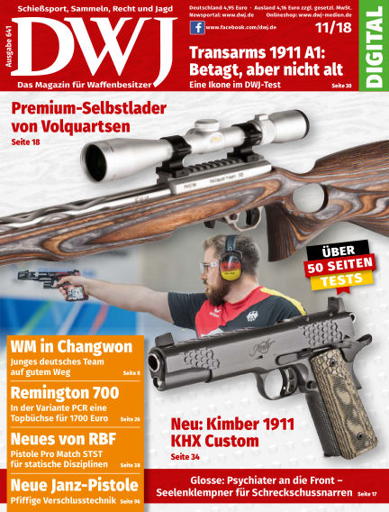 DWJ - Das Magazin für Waffenbesitzer October 24, 2018 00:00
