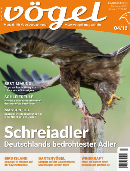 VÖGEL - Magazin für Vogelbeobachtung September 02, 2016 00:00