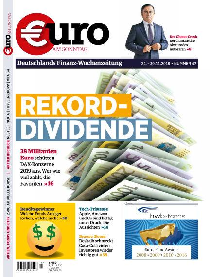 Euro am Sonntag November 24, 2018 00:00