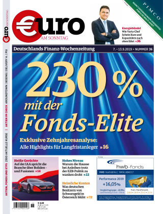 Euro am Sonntag 36 2019