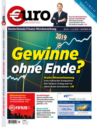 Euro am Sonntag 43 2019