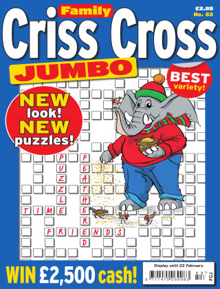 Family Criss Cross Jumbo Issue 053