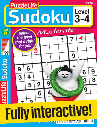 PuzzleLife Sudoku Moderate 3-4 Issue 009