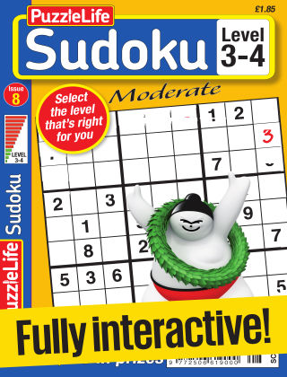 PuzzleLife Sudoku Moderate 3-4 Issue 008