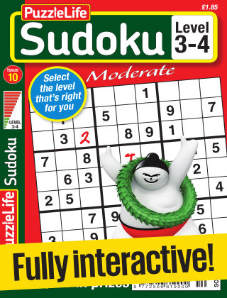 PuzzleLife Sudoku Moderate 3-4 Issue 010