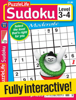 PuzzleLife Sudoku Moderate 3-4 Issue 011
