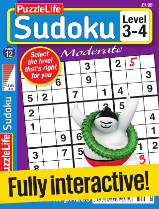 PuzzleLife Sudoku Moderate 3-4 Issue 012