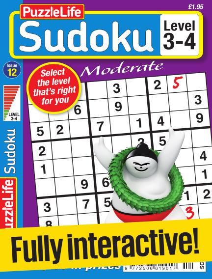 PuzzleLife Sudoku Moderate 3-4 May 25, 2017 00:00