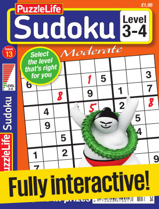 PuzzleLife Sudoku Moderate 3-4 Issue 013