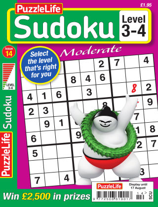 PuzzleLife Sudoku Moderate 3-4 Issue 014