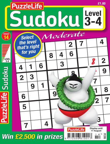 PuzzleLife Sudoku Moderate 3-4 July 20, 2017 00:00