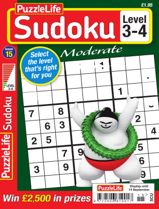 PuzzleLife Sudoku Moderate 3-4 Issue 015