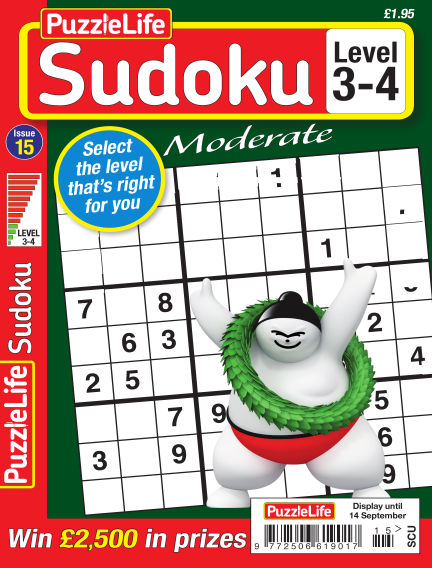 PuzzleLife Sudoku Moderate 3-4 August 17, 2017 00:00