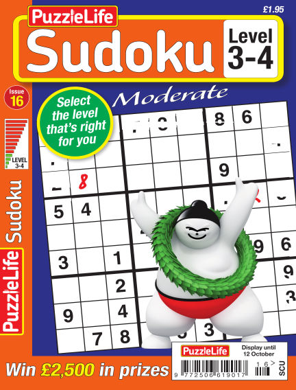 PuzzleLife Sudoku Moderate 3-4 September 15, 2017 00:00