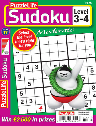 PuzzleLife Sudoku Moderate 3-4 Issue 017
