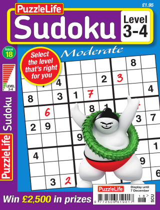PuzzleLife Sudoku Moderate 3-4 Issue 018