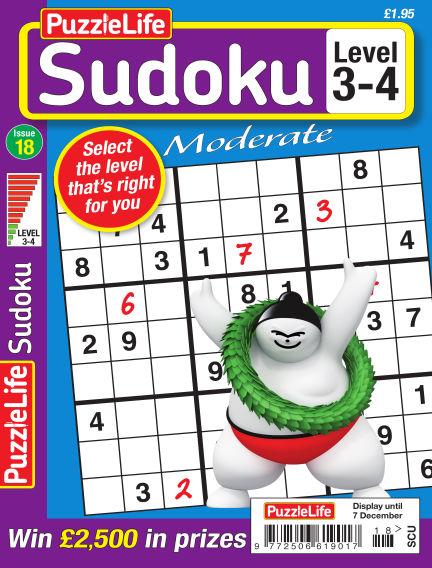 PuzzleLife Sudoku Moderate 3-4 November 09, 2017 00:00
