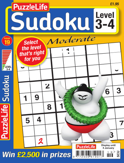 PuzzleLife Sudoku Moderate 3-4 December 07, 2017 00:00