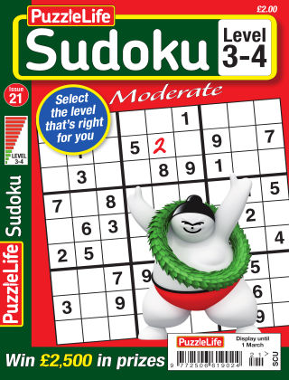 PuzzleLife Sudoku Moderate 3-4 Issue 21