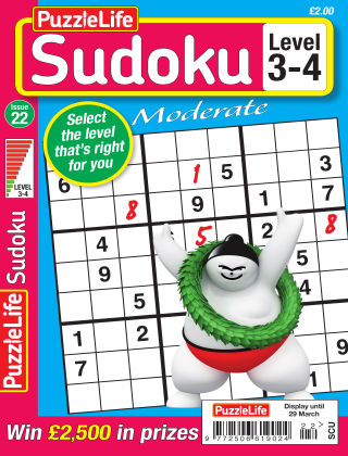 PuzzleLife Sudoku Moderate 3-4 Issue 22