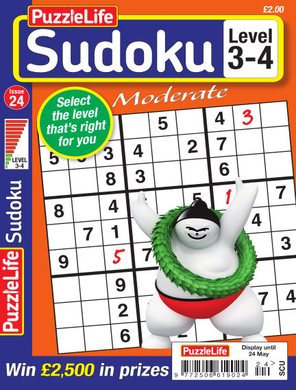 PuzzleLife Sudoku Moderate 3-4 April 26, 2018 00:00