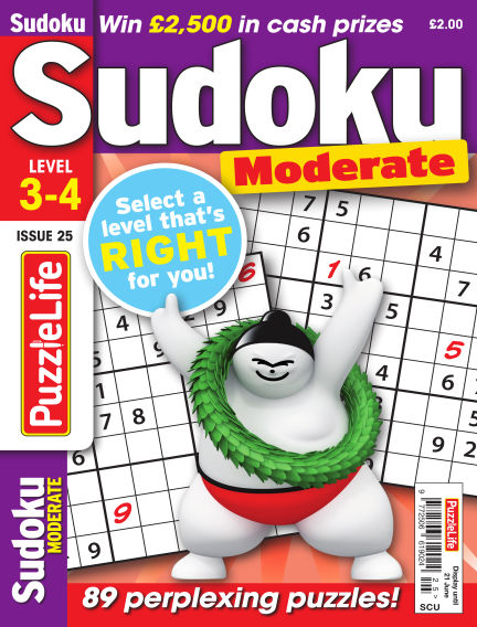 PuzzleLife Sudoku Moderate 3-4 May 24, 2018 00:00