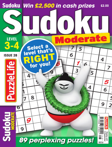 PuzzleLife Sudoku Moderate 3-4 August 16, 2018 00:00