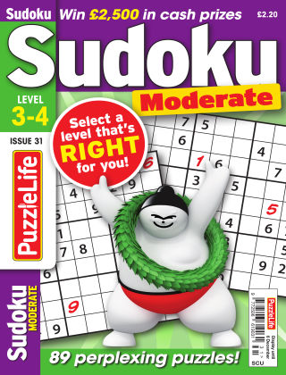 PuzzleLife Sudoku Moderate 3-4 Issue 31