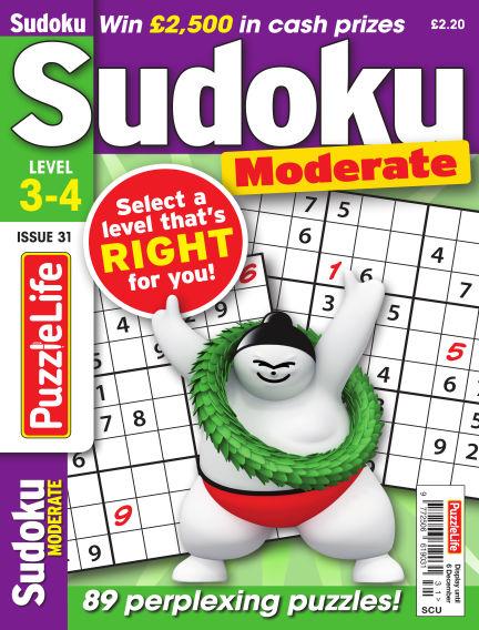 PuzzleLife Sudoku Moderate 3-4 November 08, 2018 00:00