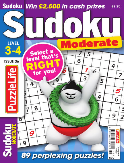 PuzzleLife Sudoku Moderate 3-4 April 11, 2019 00:00