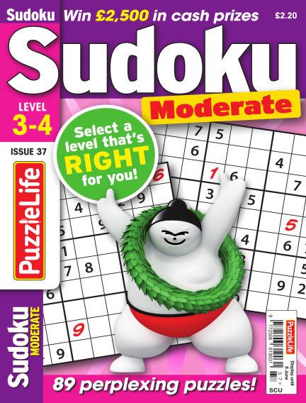 PuzzleLife Sudoku Moderate 3-4 May 09, 2019 00:00