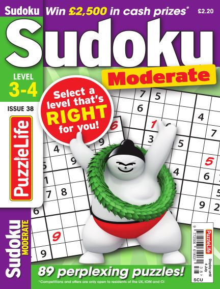 PuzzleLife Sudoku Moderate 3-4 June 06, 2019 00:00