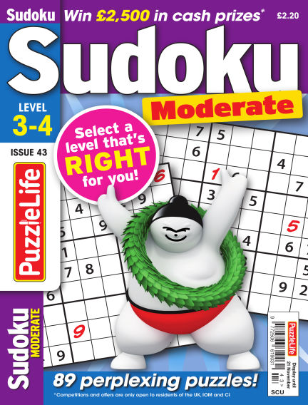 PuzzleLife Sudoku Moderate 3-4 October 24, 2019 00:00