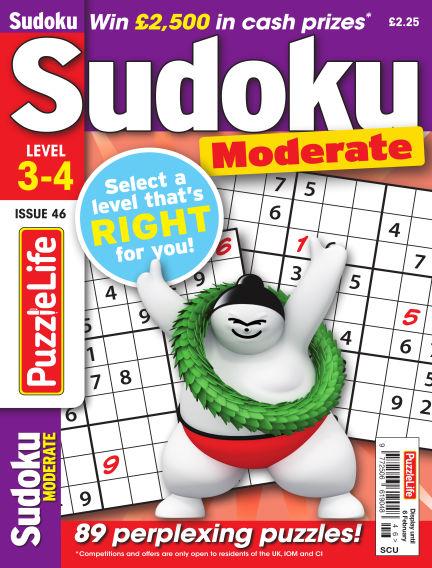 PuzzleLife Sudoku Moderate 3-4 January 09, 2020 00:00