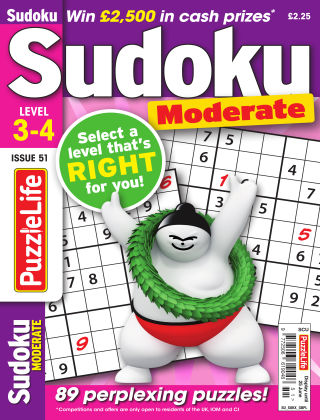PuzzleLife Sudoku Moderate 3-4 Issue 051