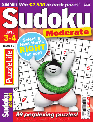 PuzzleLife Sudoku Moderate 3-4 Issue 053
